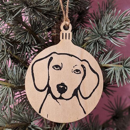 Peabody the Dachshund Holiday Ornament