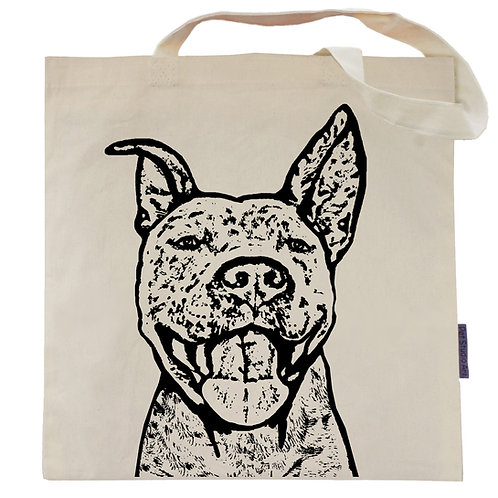 Pit Bull Tote Bag | Spock the Pittie