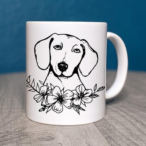 Dachshund Flower Power Coffee Mug