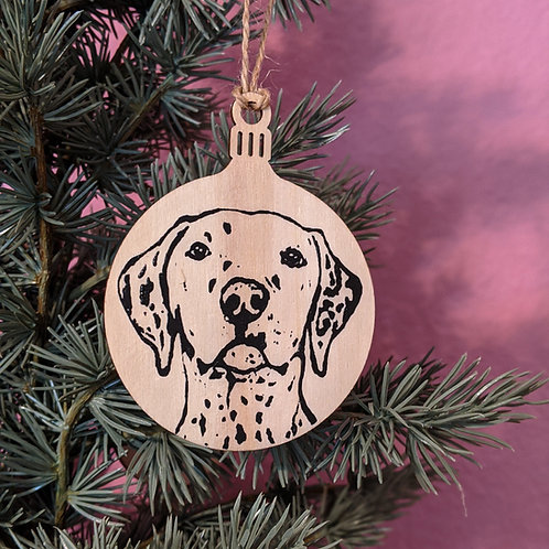 Dalmatian Holiday Ornament