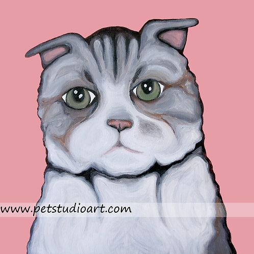 Custom 12in x 16in Pet Painting