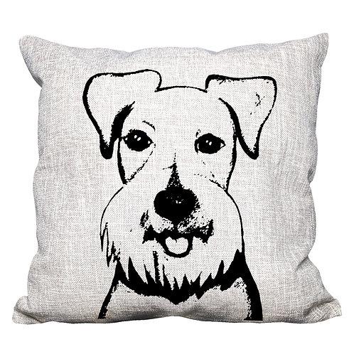 Schnauzer Throw Pillow Cover
