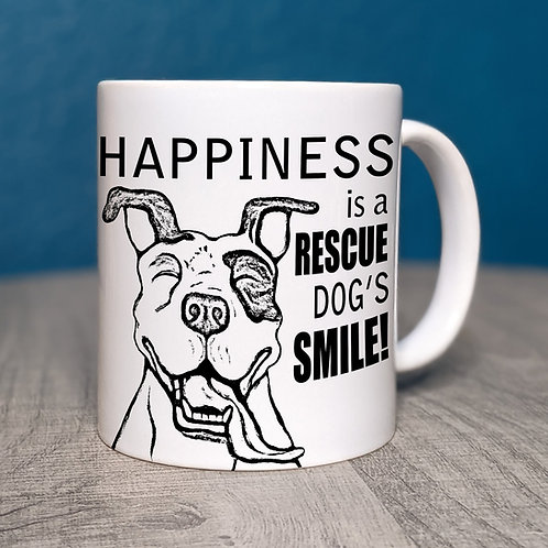 Happiness Is A Rescue Dog's Smile Coffee Mug