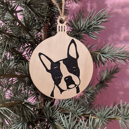Boston Terrier Holiday Ornament