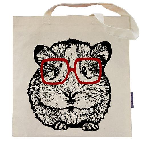 Hipster Hamster Tote Bag