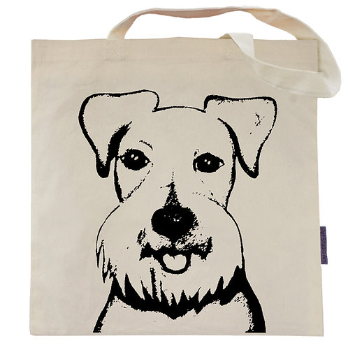 Schnauzer Tote Bag | Baby the Schnauzer