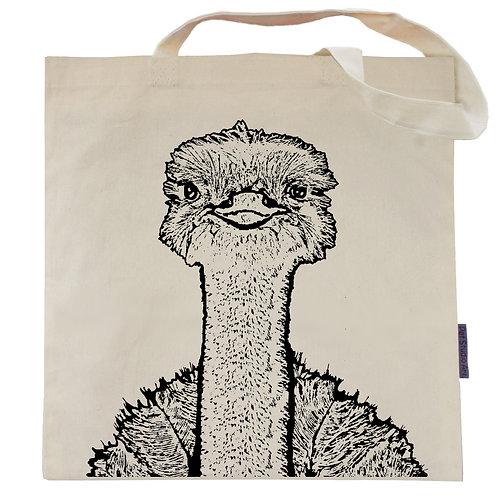 Ostrich Tote Bag | Gus the Ostrich