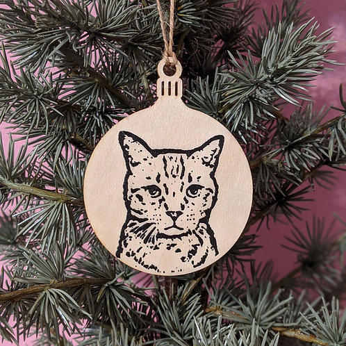 Milo the Cat Holiday Ornament