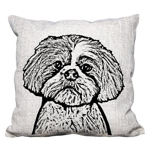 Shih Tzu Throw Pillow Cover
