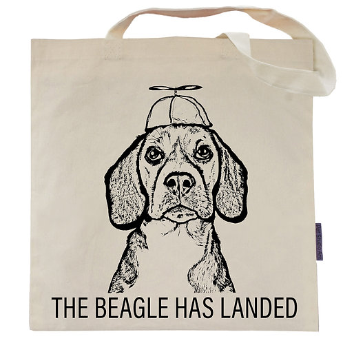 The Beagle has Landed Tote Bag