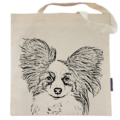 Papillon Tote Bag | Macy the Papillon