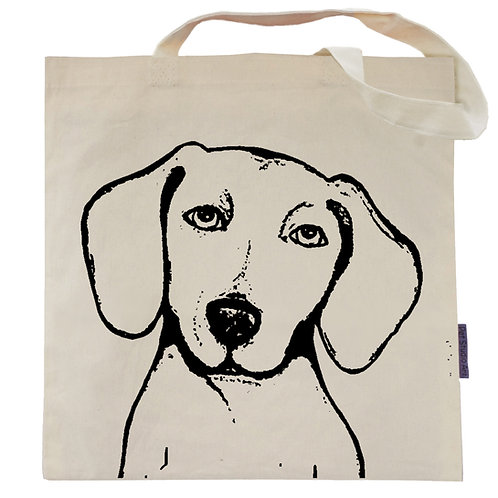 Dachshund Tote Bag | Peabody the Doxie
