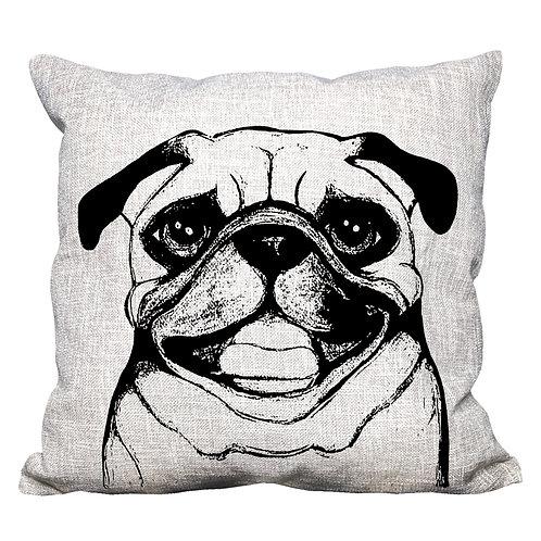 Pug Throw Pillow Cover
