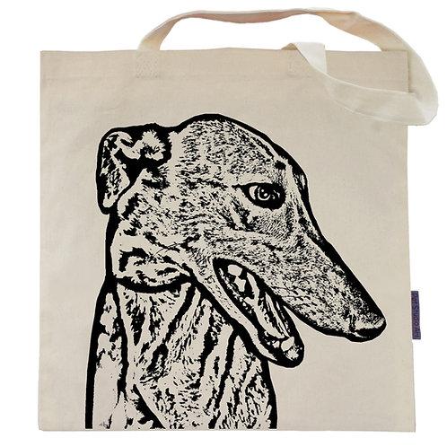 Greyhound Tote Bag | Wylie the Greyhound