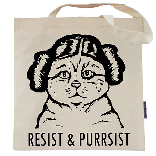Resist an Purrsist Tote Bag