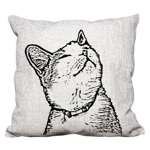 Whiskers the Cat Throw Pillow Cover