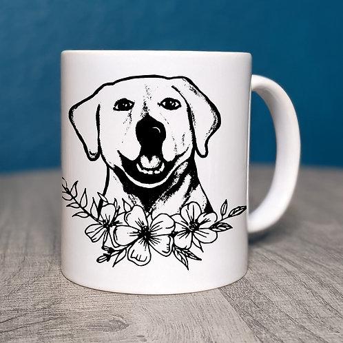 Labrador Flower Power Coffee Mug