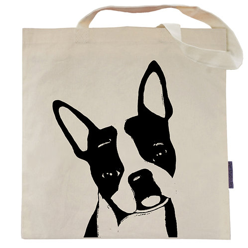 Boston Terrier Tote Bag | Duke the Boston