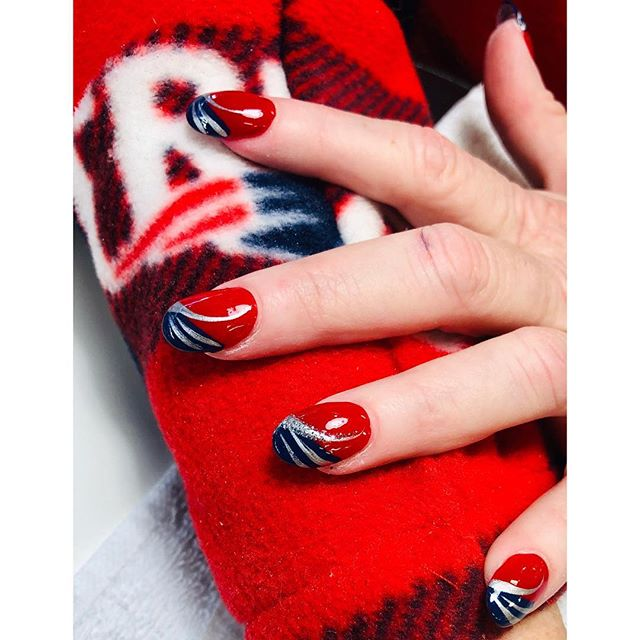 ❤️Nails 💙by Sherry #gopats #nails