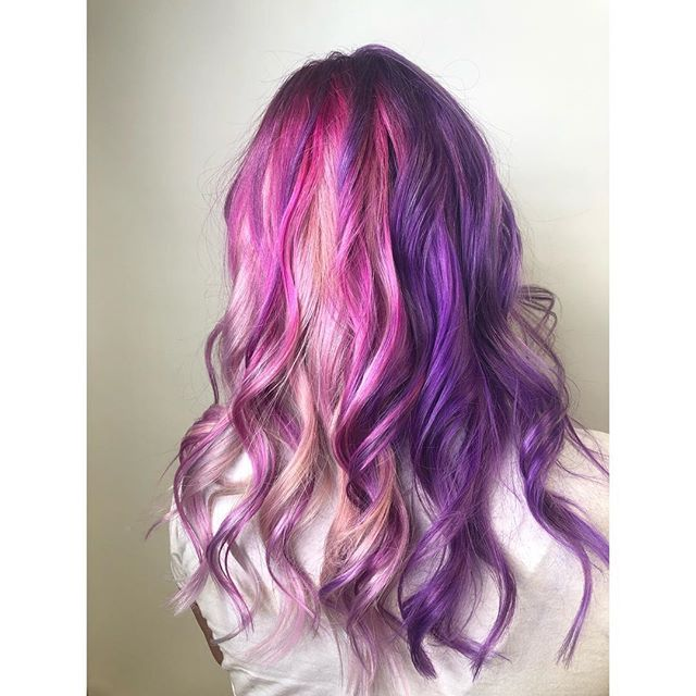 Super fun 🦄💜Multi Color💜🦄 hair by Da