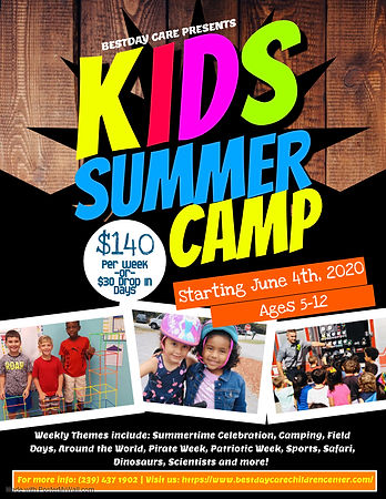 Copy of Kids Summer Camp Flyer Template