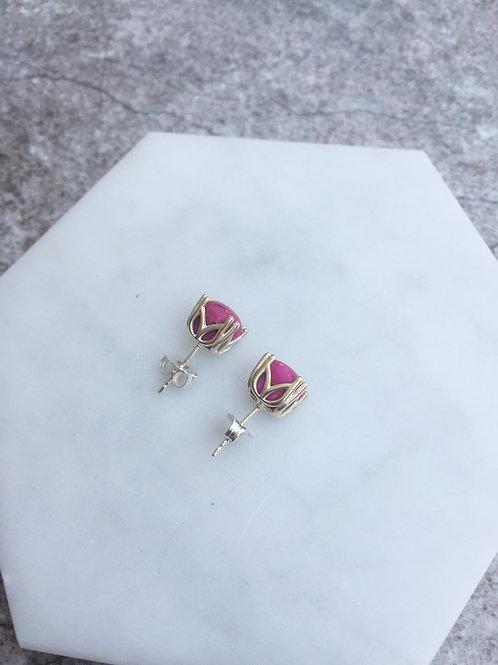 Flower Memorial Fancy Stud Earrings