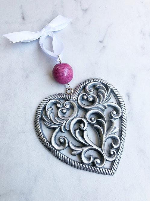 Flower Memorial Heart Ornament