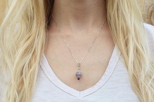 Flower Memorial Bead Pendant Necklace