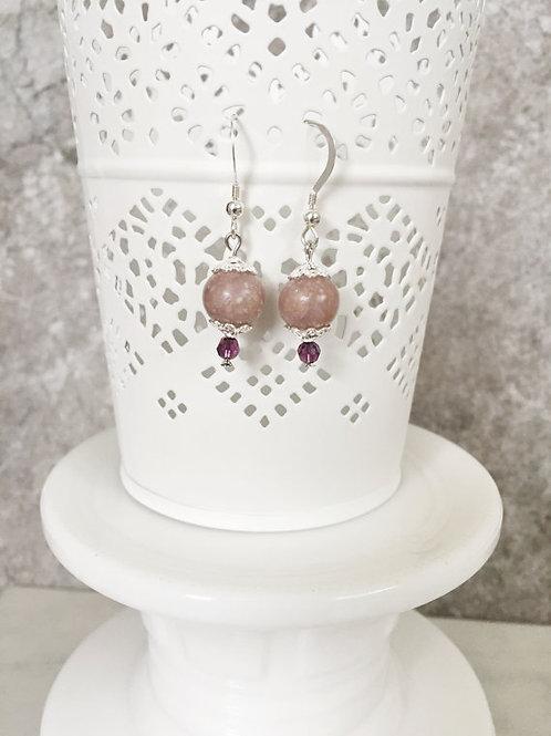 Sterling Silver Memorial Dangle Earrings