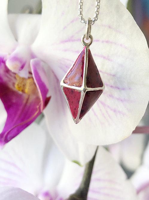 Flower Memorial Diamond Cage Pendant