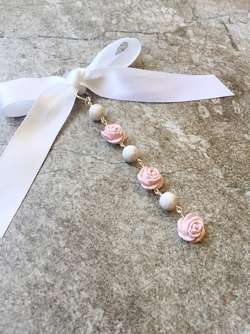 Rose and Bead Boquet Charm