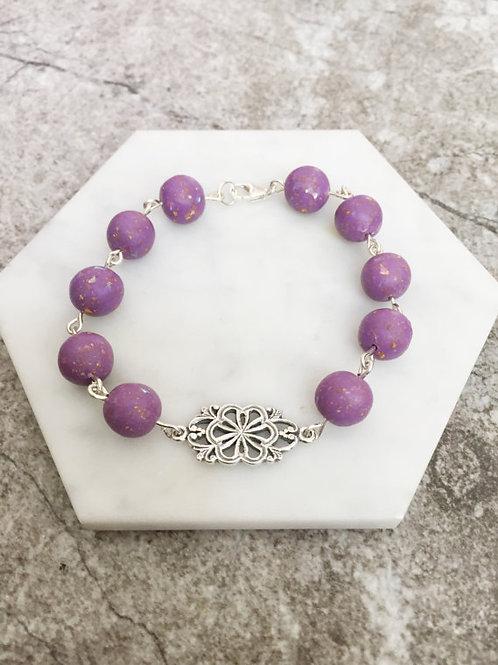Flower Memorial Flower Link Bracelet