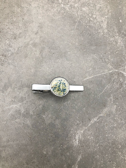 Flower Memorial Circle Tie Clip