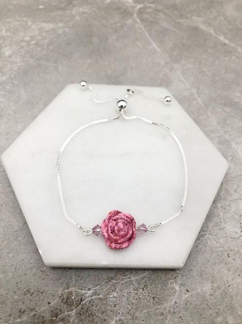 Flower Memorial Rose Bracelet