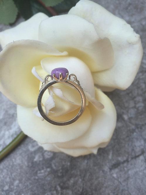 Sterling Silver Scroll Memorial Ring