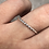 Thumbnail: Flower Memorial Dainty Oval Ring (Twisted Band)