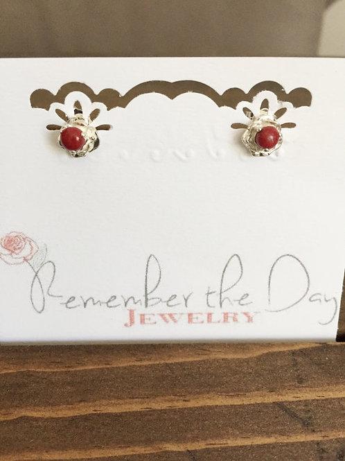 Flower Memorial Rose Earrings