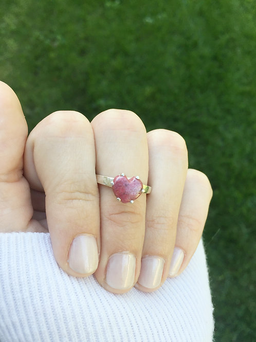 Flower Memorial Heart Ring