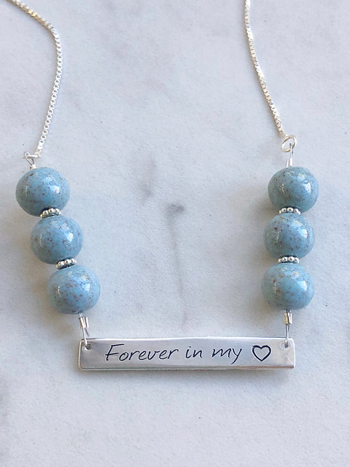 Flower Memorial Forever in my heart Necklace