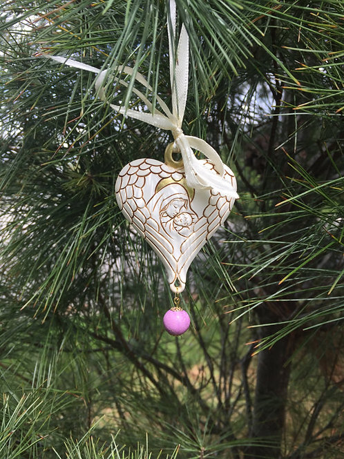Memorial Bead Madonna and Child Ornament