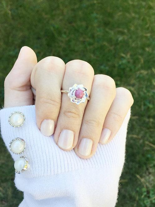 Flower Memorial Flower Ring