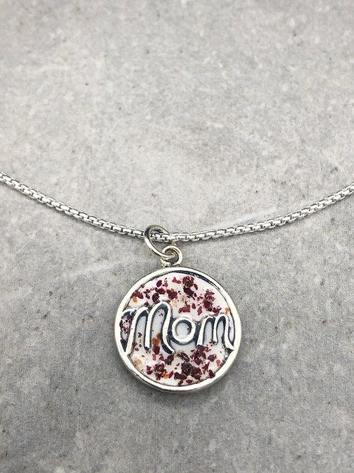 Flower Memorial Mom Pendant