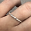 Thumbnail: Flower Memorial Dainty Heart Ring (Triple Twisted Band)