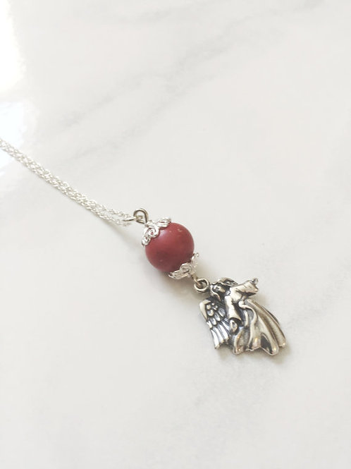 Sterling Silver Angel Memorial Bead Necklace