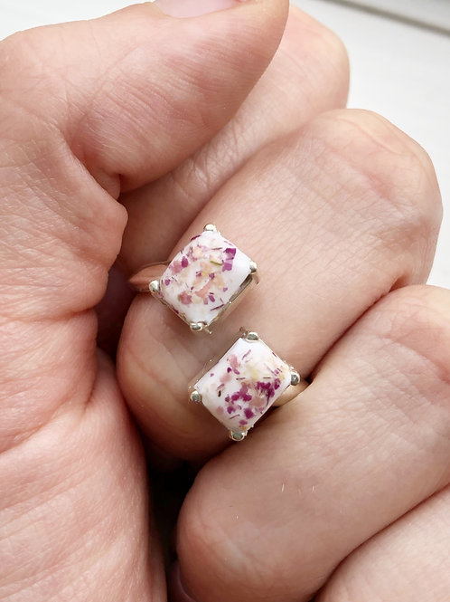 Double Rectangle Memorial Ring