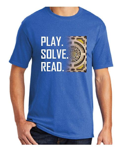 """""""Play. Solve. Read."""" 2nd Kickstarter T-shirt"""