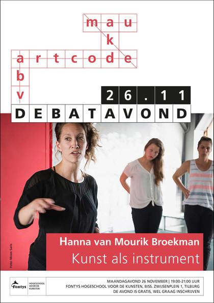 Affiche Debatavonden Fontys Kunsten