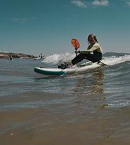 Waveski-surfing course