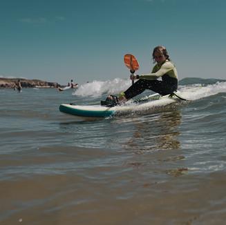 Waveski surfing
