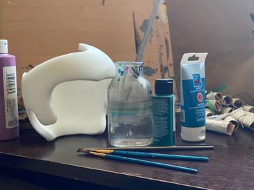 Pre-paint helmet